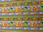 NEW! JUNGLE STRIPE - MONKEY LIION ELEPHANT CROCODILE - Fabric 100% Cotton - Price Per Metre